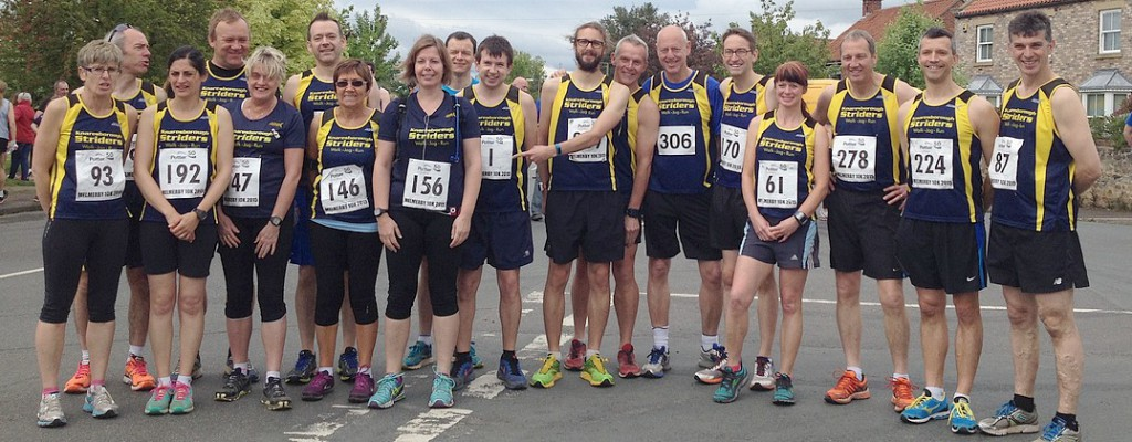 Striders before the start of the 2015 Melmerby 10K