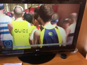 Who's that on the telly?(the clue's on his back!)