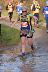 Sarah making a splash in her first PECO for Striders