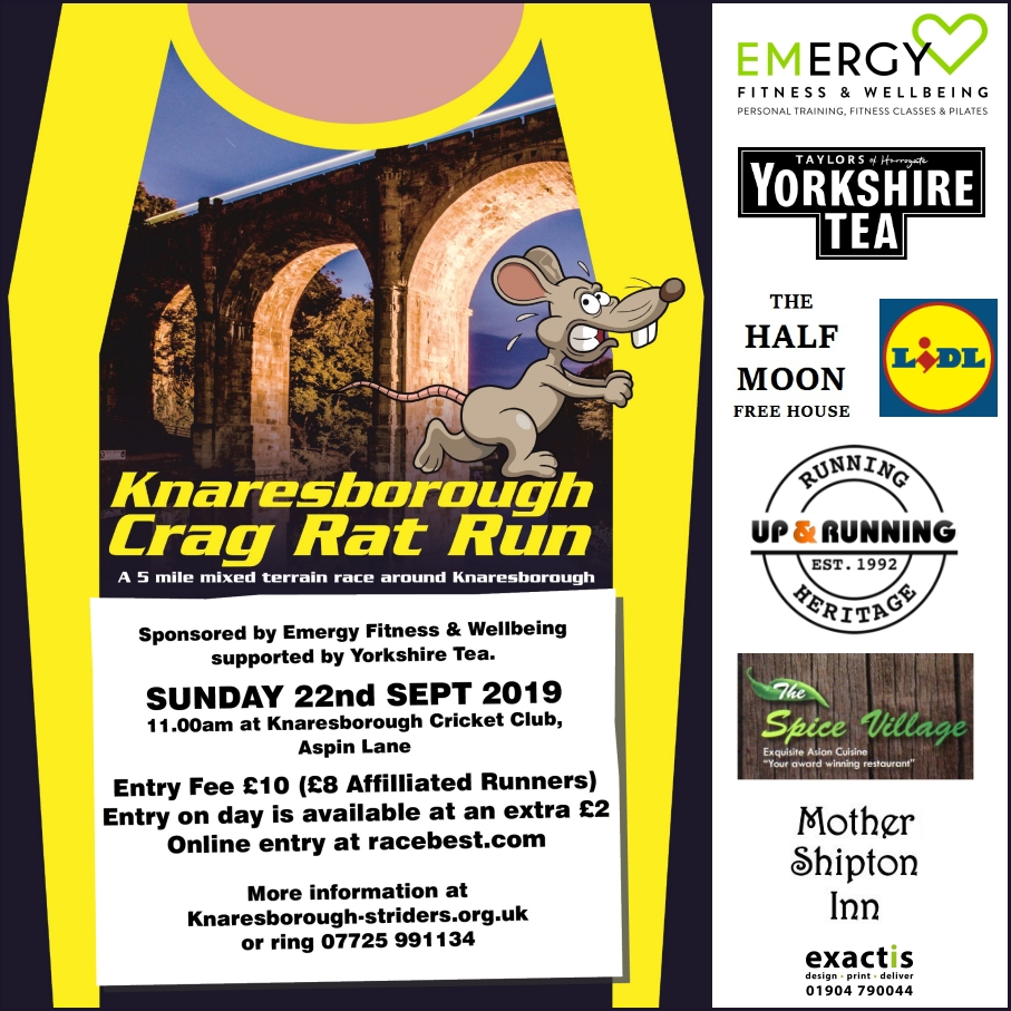 Crag Rat Run with sponsors 2019