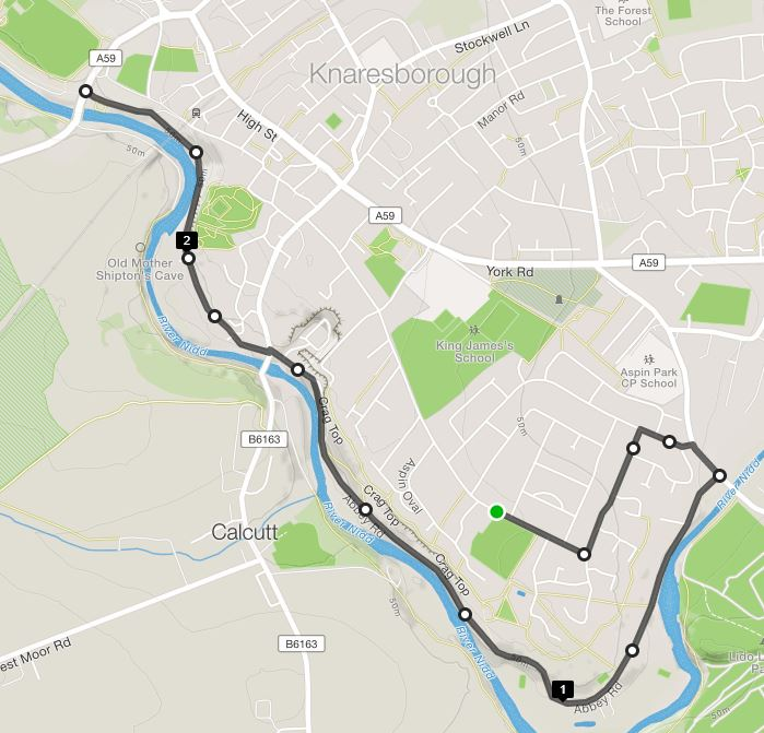 This stretch is 2.4miles in one direction and will hopefully form the basis of your runs.