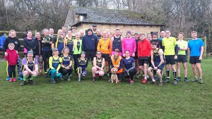 Many of the Striders in attendance at Wetherby parkrun